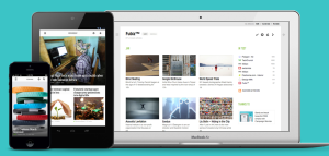 Feedly is available on the web phone and tablet