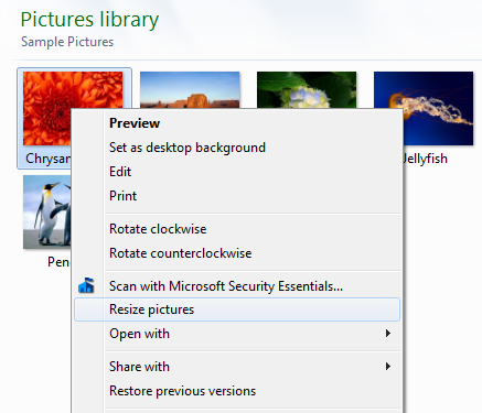 Image Resizser for Windows Context Menu